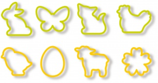 Easter cookie cutters DEL