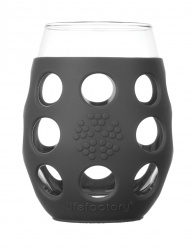 Lifefactory 11oz Wine Glass - 2pk - Carbon