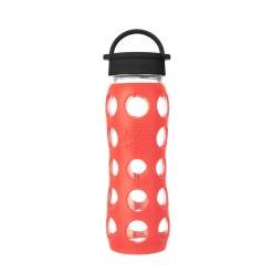 Lifefactory 22 oz Glass Bottle Core 2.0 - Poppy