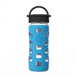 Lifefactory 12 oz Glass Bottle Core 2.0 - Cobalt Blue
