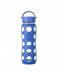 Lifefactory 22 oz Glass Bottle with Classic Cap - Cobalt