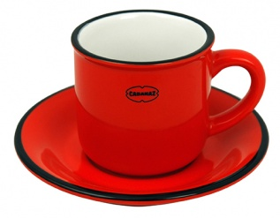 ESPRESSO CUP/SAUCER Red
