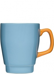 POP Mugg, Turquoise/Orange