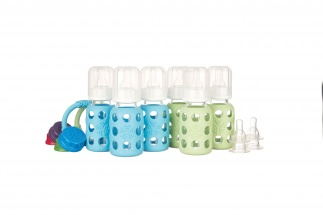 Lifefactory 4oz Starter Set - 6 bottles - Sky/Spring Green