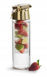 Bottle with fruitpiston gold