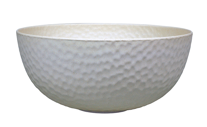 Large Bowl HAMMERED White