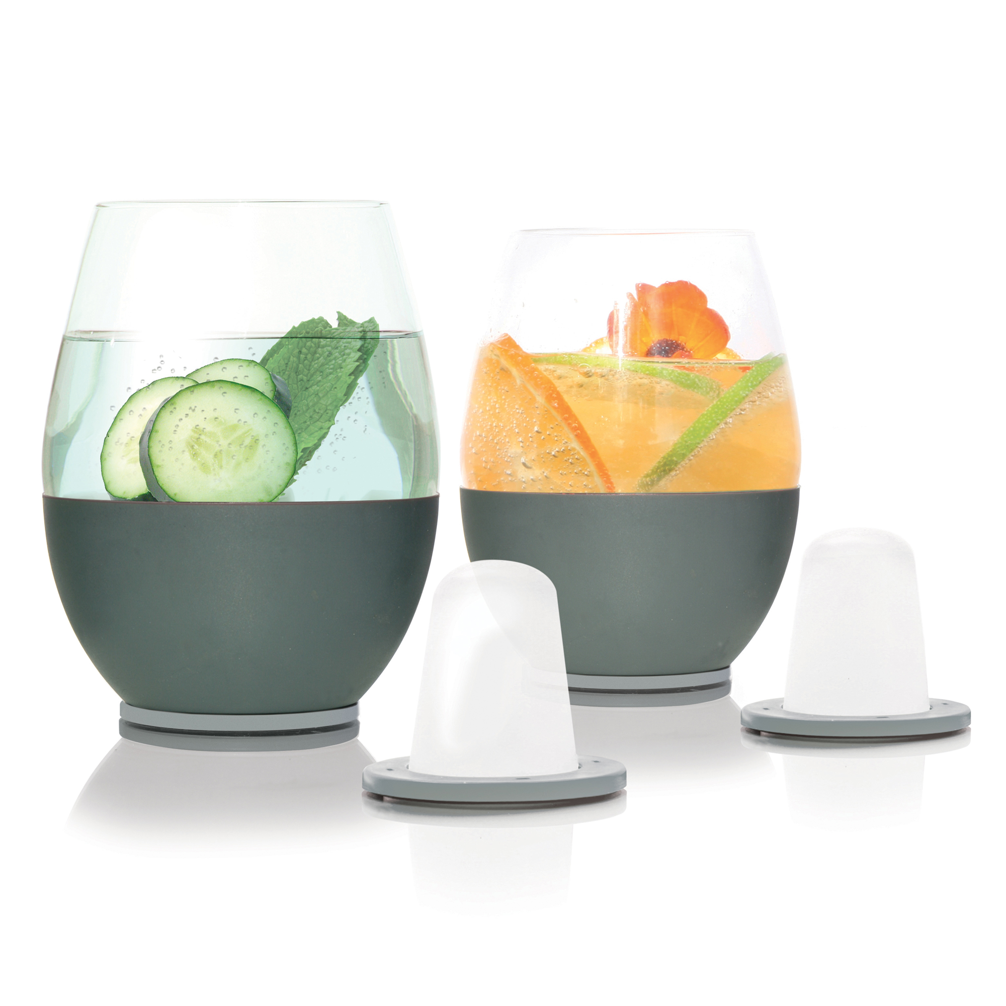 Dimple Stemless set of 2