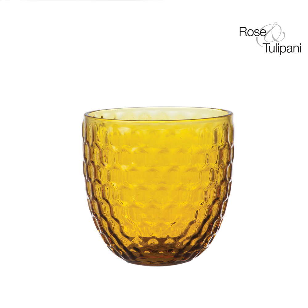 Opera Amber Water Glass