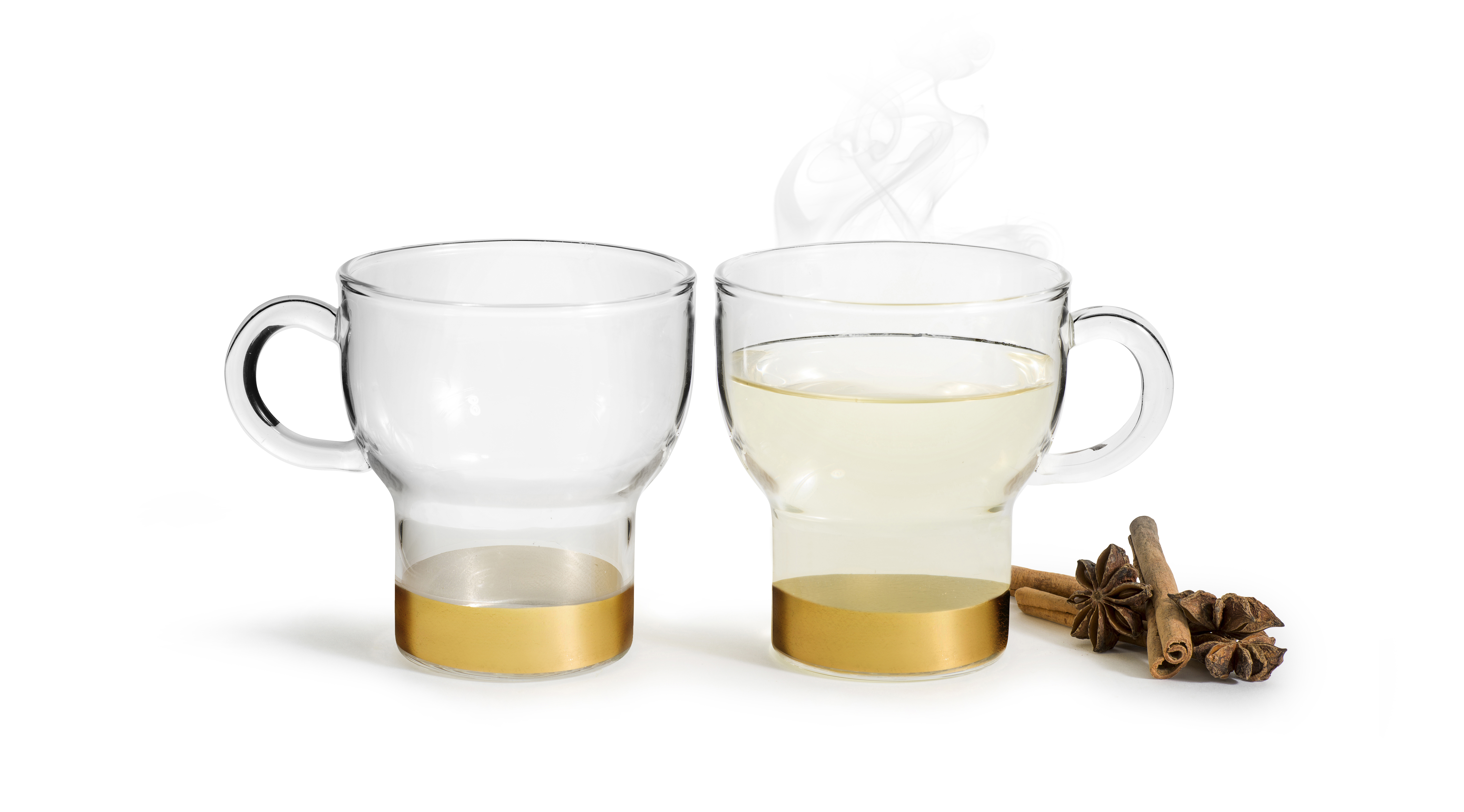 Glassmug 2-pack small, gold