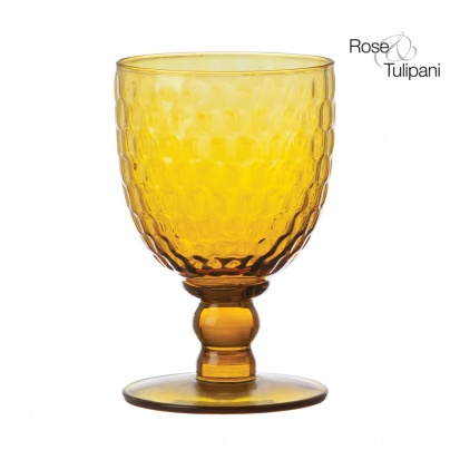 Opera Amber Wine Glass