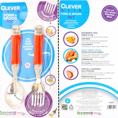 Clever fork & spoon set