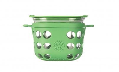 Lifefactory 2 Cup Glass Food Storage - Grass Green