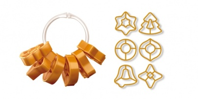 Cookie Cutters Christmas Decorations, 6 Pcs 2 Ribbons Delicia