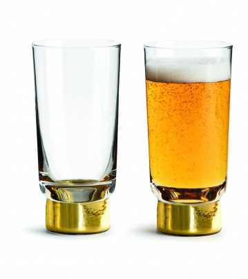 Club beer glass gold, 2-pack