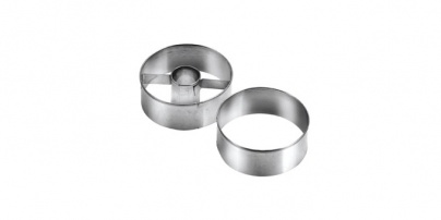 Round-Shaped Shortcake Cutters - Medium, 2 Pcs Delicia