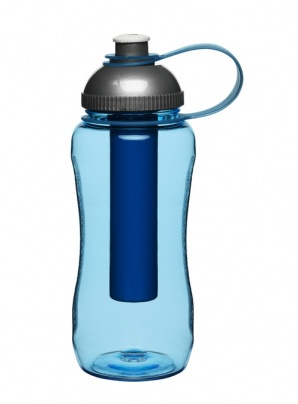 Fresh bottle with ice piston, blue