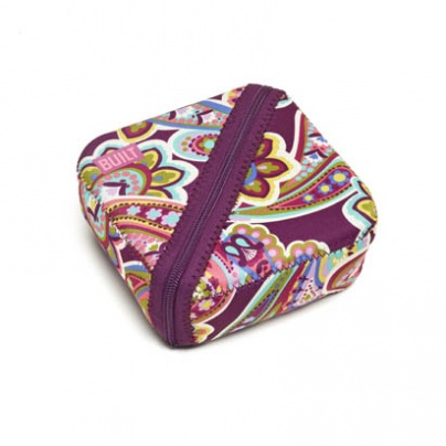 Bento Sandwich Box Includes Sandwich Container posh paisley purple