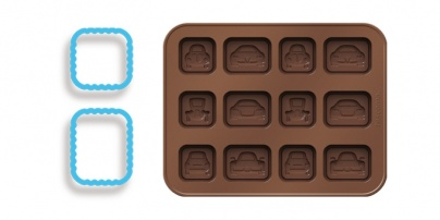 Chocolate Mould Set With Cookie Cutters, Little Cars Delicia Kids