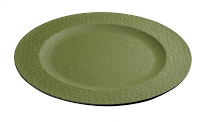 Large Plate HAMMERED Moss Green