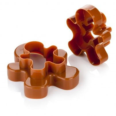 Double-Sides Cookie Cutters Figures, 4 Sizes Delicia