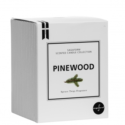 Winter scent candle pine, white