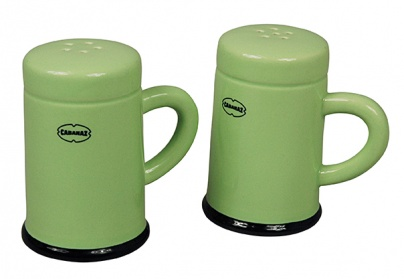 SALT & PEPPER SHAKER set/2 Green
