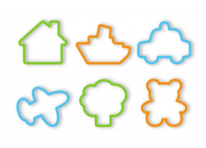 Cookie Cutters For Boys, 6 Pcs Delicia Kids