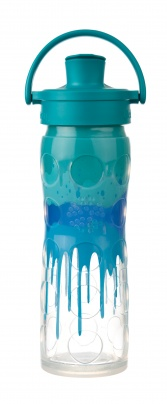 Lifefactory 16 oz Glass Bottle with Active Flip  Cap - Sapphire Splash