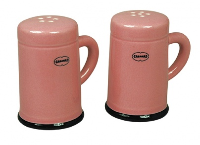 SALT & PEPPER SHAKER set/2 Pink