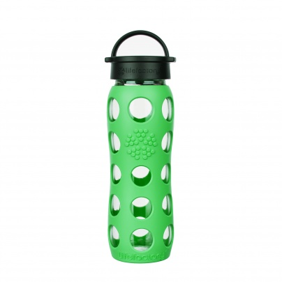 Lifefactory 22 oz Glass Bottle Core 2.0 - Moss