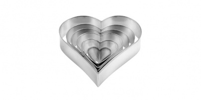 Heart-Shaped Cookie Cutters, 6 Pcs Delicia