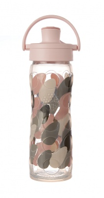 16oz/475ml Glass Bottle with Active Flip Cap - Blush