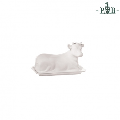 MUCCHINE COW BUTTER DISH cm 18 GB