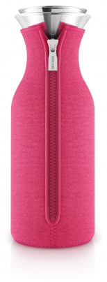 Fridge carafe woven Berry red