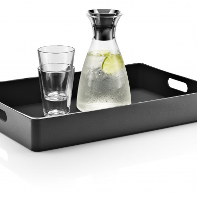 Serving tray black