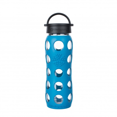 Lifefactory 22 oz Glass Bottle Core 2.0 - Teal Lake
