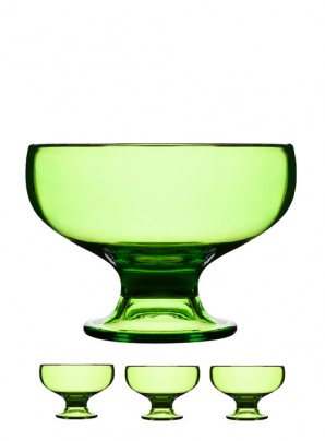 Serving bowl 4-pack, green