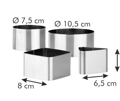 Food Shaping Moulds 4 Pcs Grandchef