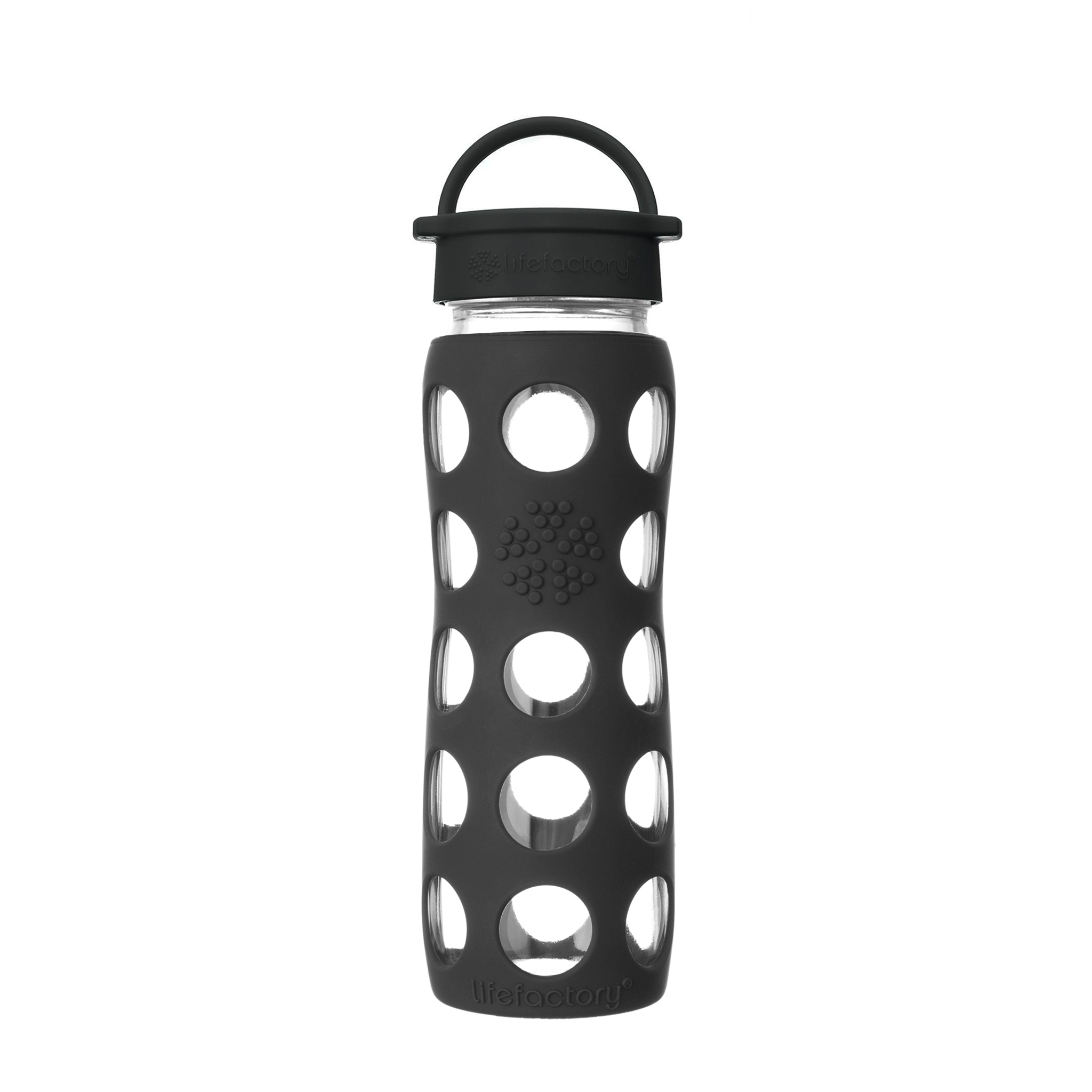 Lifefactory 22 oz Glass Bottle Core 2.0 - Onyx Black