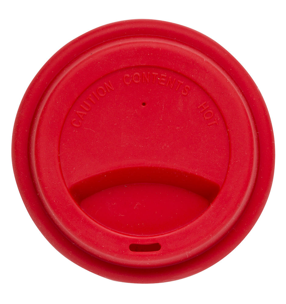 Silicone lid take away red