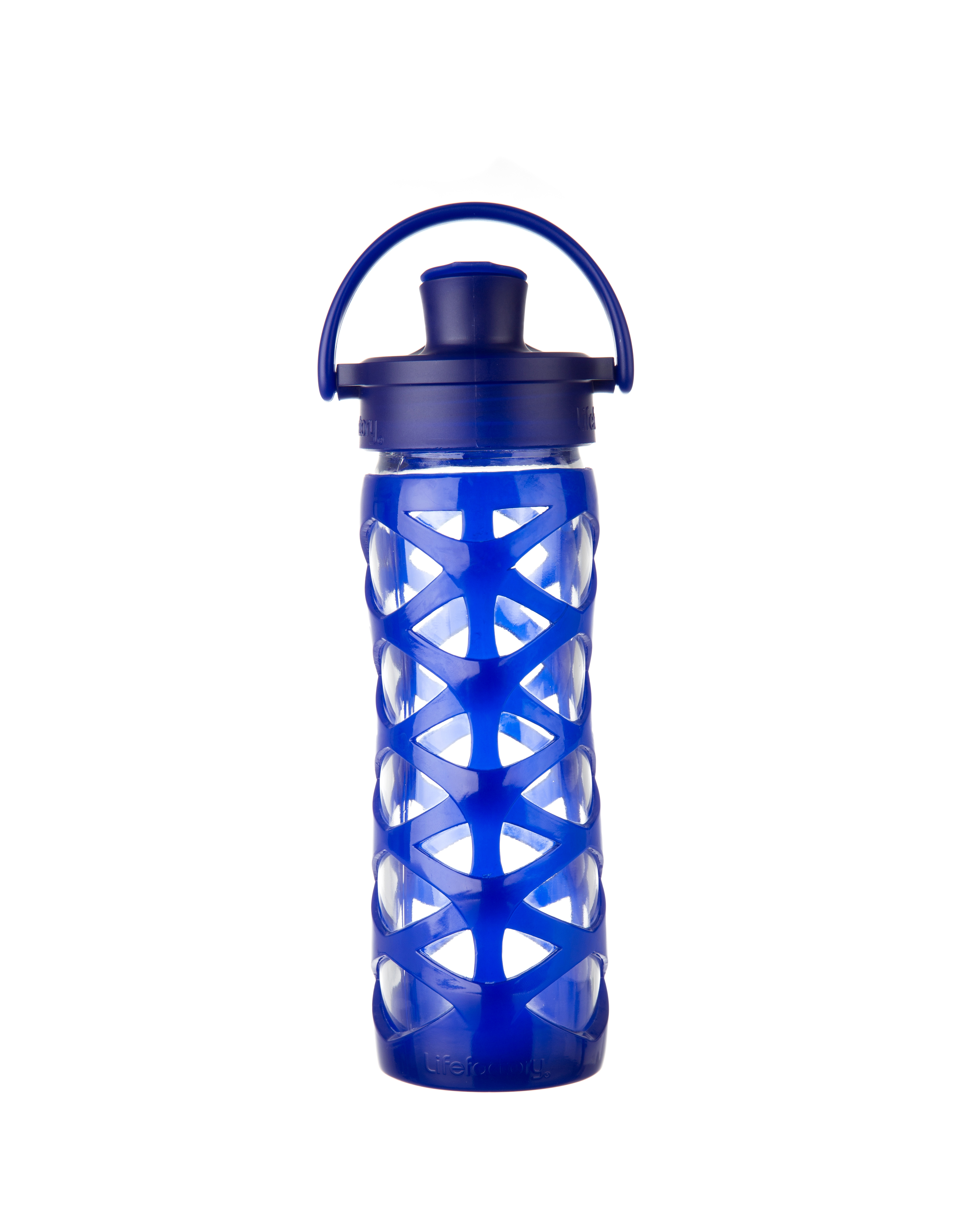 Lifefactory 16 oz Glass Bottle with Active Flip Cap - Sapphire