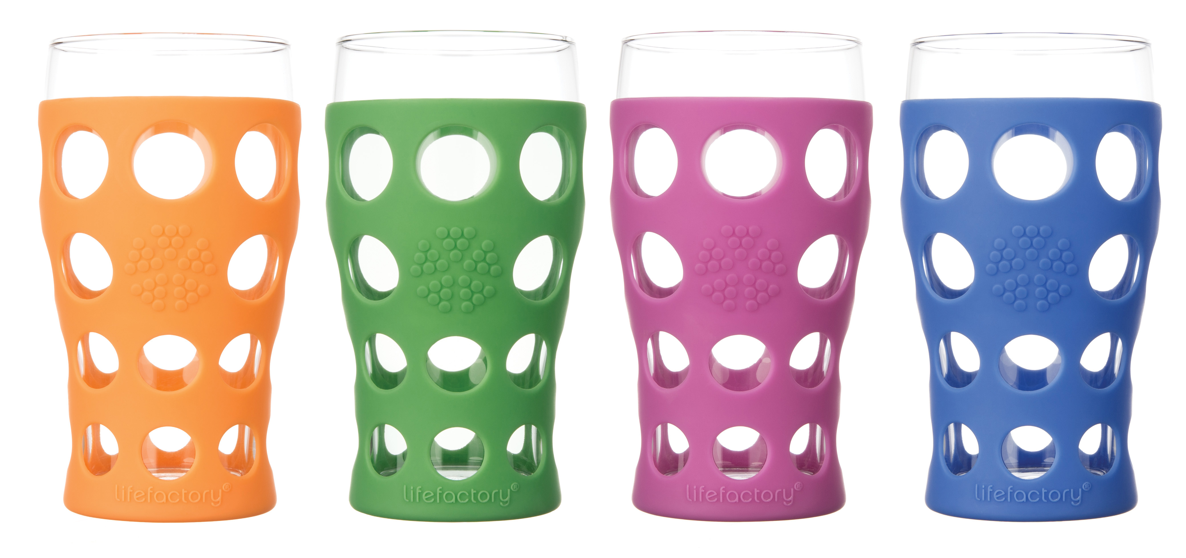 Lifefactory 20oz Beverage Glass - 4pk - Assorted