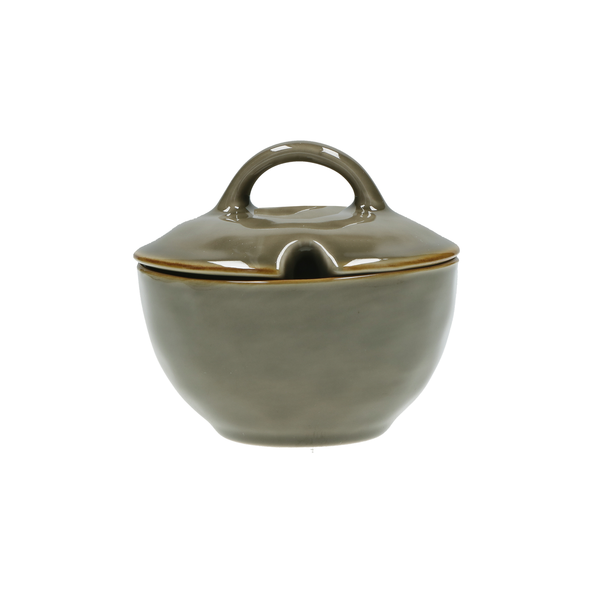 CONCERTO (Grey) GRIGIO TORTORA Sugar Bowl with lid Cap. 250 cc; Ø 11 cm