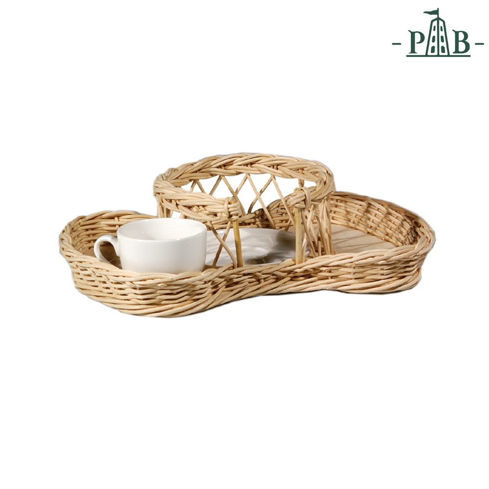 WICKER FOR 6 COFFEE' CUPS