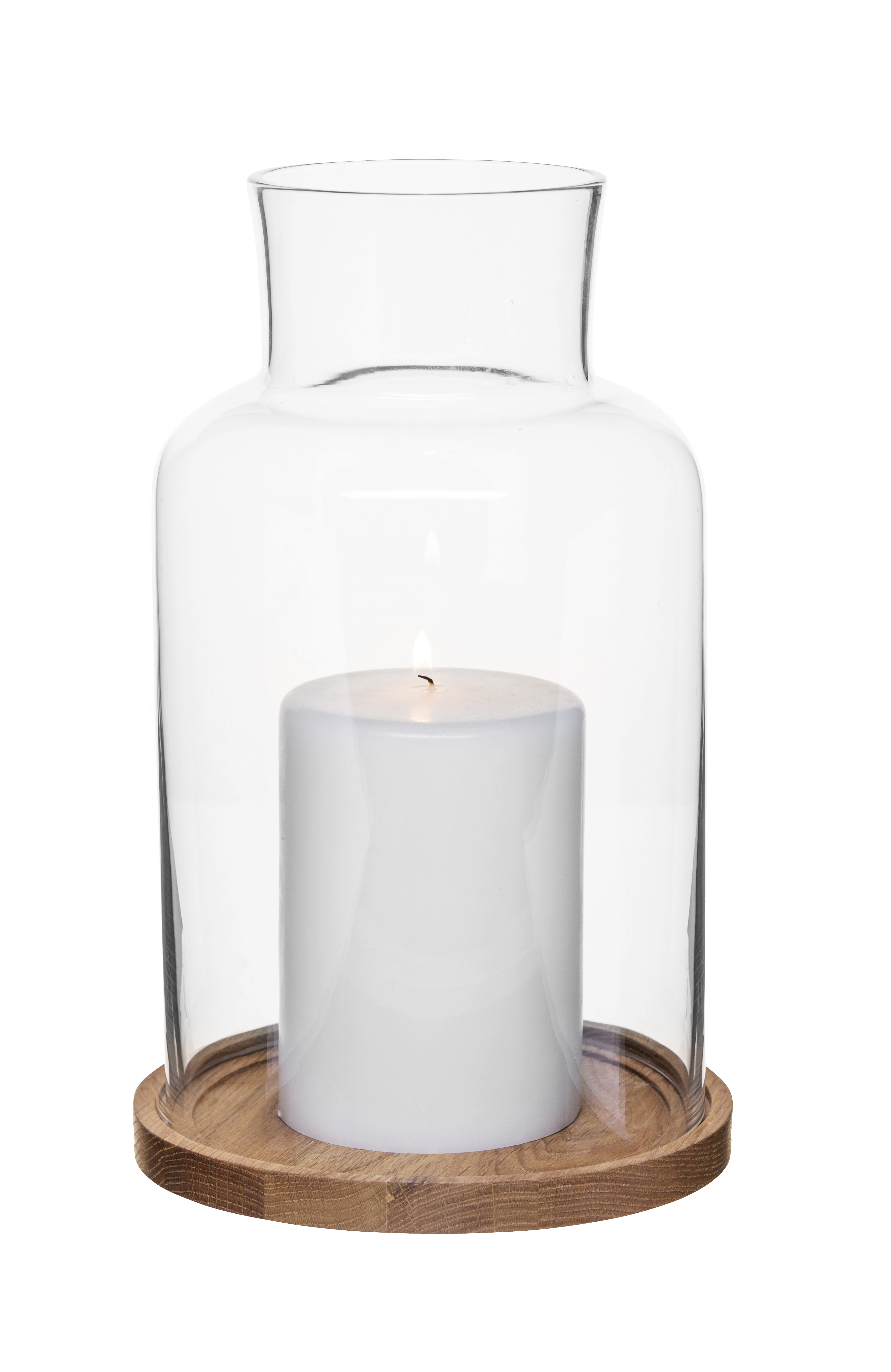 Oak candleholder, medium