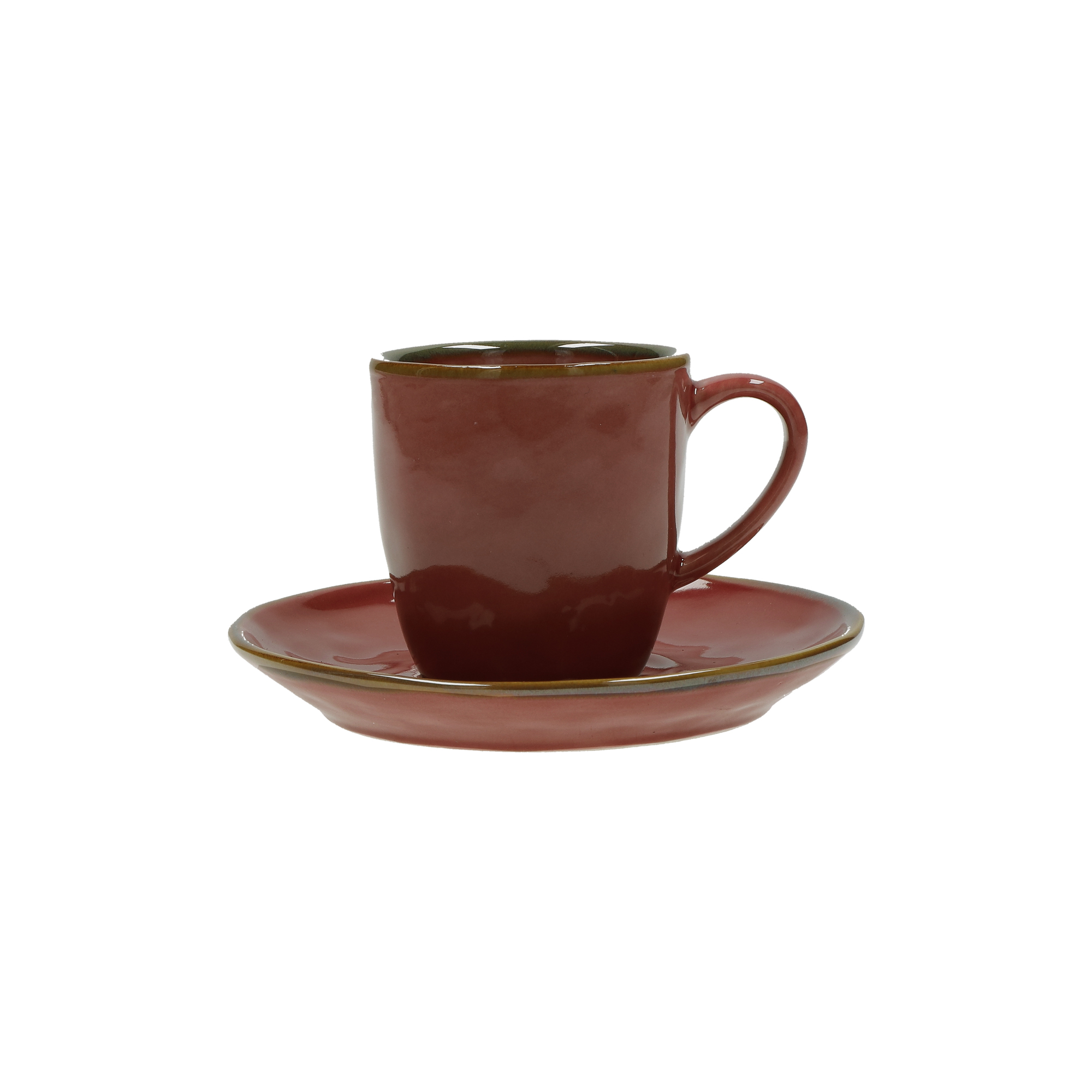 CONCERTO (Red) ROSSO MALAGA Espresso Cup with saucer Cap. 90 cc