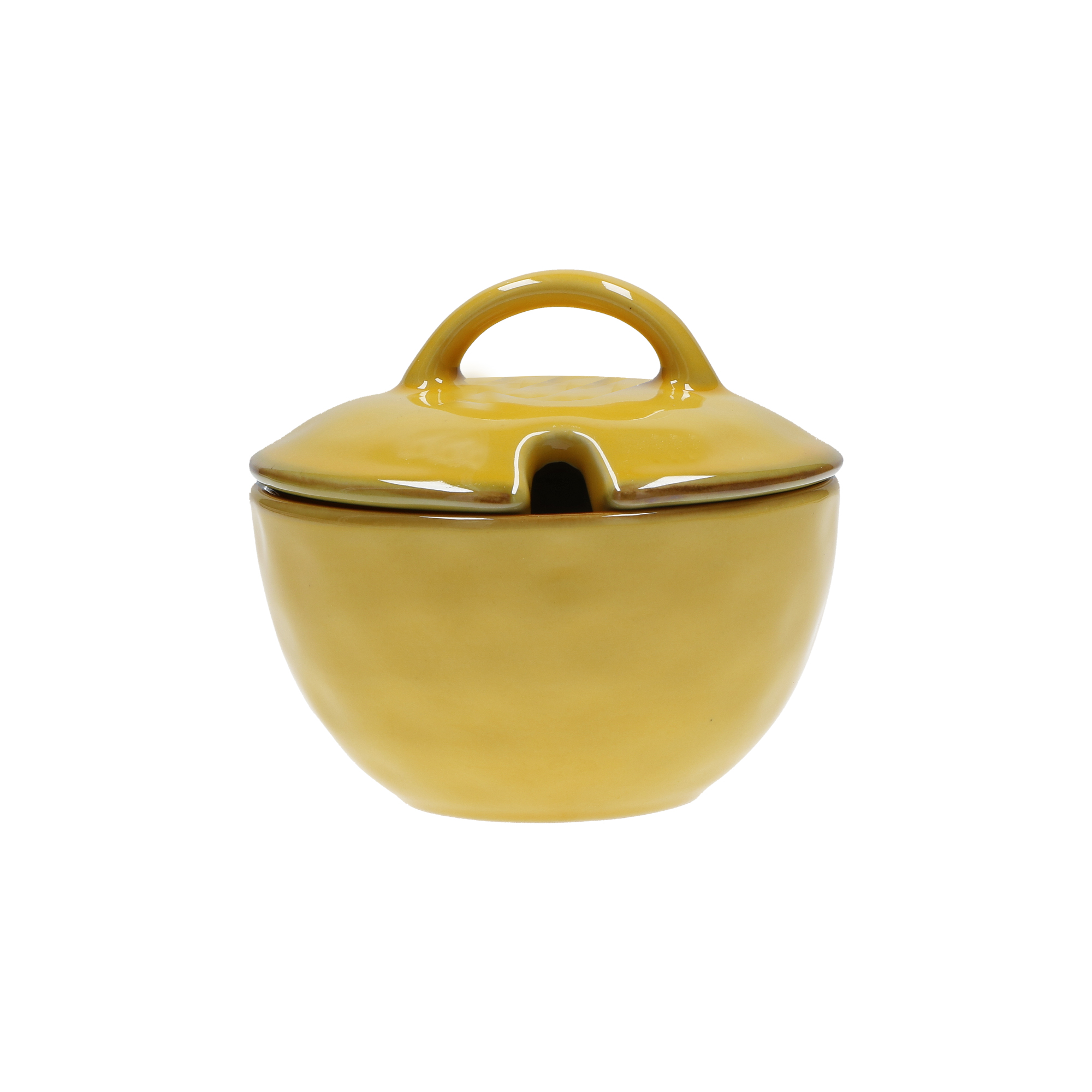 CONCERTO (Yellow) OCRA Sugar Bowl with lid Cap. 250 cc; Ø 11 cm