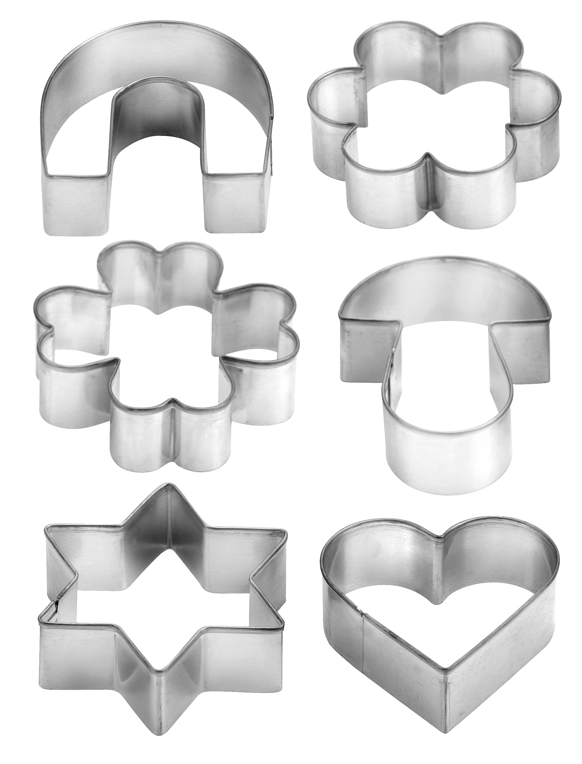 Cookie Cutters On Ring 6 Pcs Delicia