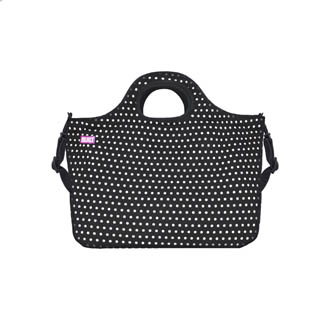 Duffle Tote - Medium Mini Dot Black & White