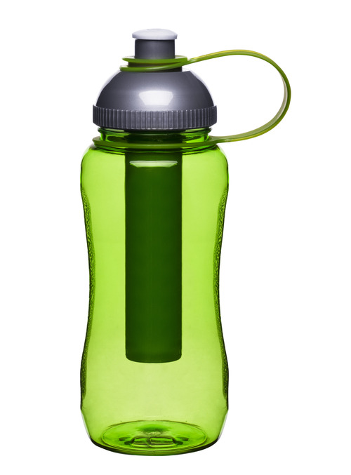 Fresh bottle with ice piston, green